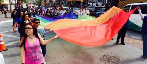 Manifestación LGTB en Baja California.