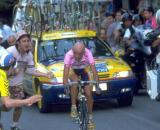 Marco Pantani al Giro d'Italia.