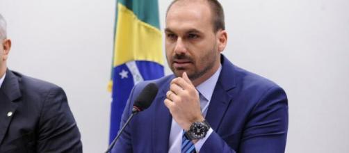 Depoimento de Moro: Não era ministro, era espião, diz Eduardo Bolsonaro (Fonte: Blasting)