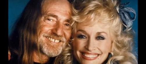 Dolly Parton never forgets Willie Nelson's birthday and Kristin Chenoweth ever considers Dolly her queen.[Image source:MichaelLundNelson-YouTube}