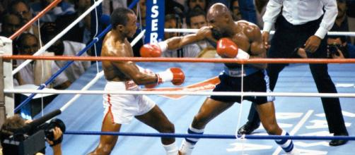 Sugar Ray Leonard vs Marvin Hagler, 6 aprile del 1987.