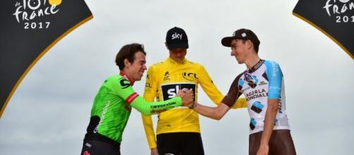 Il podio del Tour de France 2017