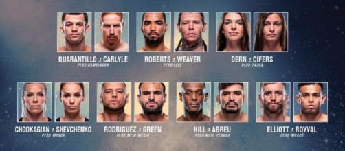 UFC APEX acontece neste sábado. (Reprodução/Facebook Oficial UFC Brasil)