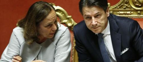 Il ministro dell'Interno Lamorgese e il presidente del Consiglio Conte.