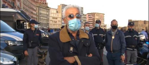 Un posto al sole: Patrizio Rispo intervistato dal tg regionale della Campania.