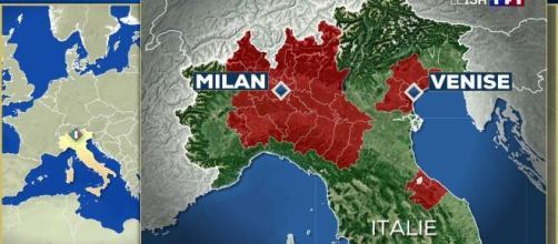 Coronavirus : le nord de l'Italie entièrement paralyse. Capture: TF1