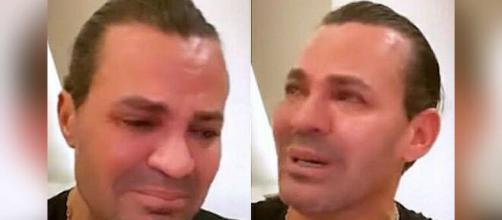 Em live, Eduardo Costa chora e afirma que irá fazer pausa na carreira. (Fotomontagem)