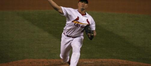 Former Korean major league reliever now plays in the KBO. [image Source: Wikimedia Commons]