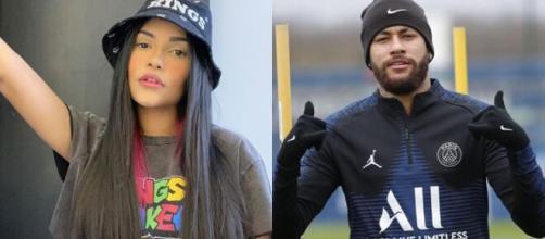 Amiga de Flay divulga prints de conversas entre a ex-BBB e Neymar. (Arquivo Blasting News/ Flayslane Neymar)