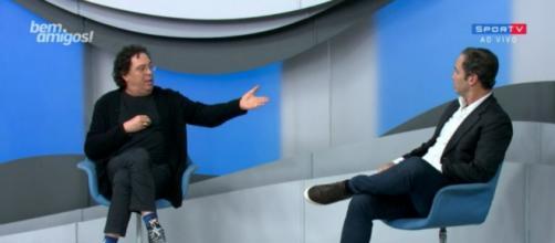 """Caio Ribeiro e Casagrande discutiram durante o """"Bem, Amigos!"""". ( Reprodução/SporTV )"""