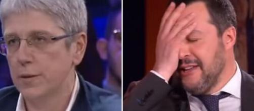 Mario Giordano e Matteo Salvini.