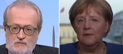 Paolo Becchi e la cancelliera tedesca Angela Merke.