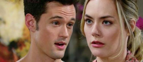Beautiful, trame 11-16 maggio: Thomas vuole costruire una famiglia con Hope e la bacia.