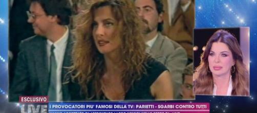 Caterina Collovati all'attacco di Alba Parietti.