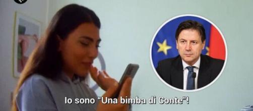 Giulia Salemi convinta di parlare a telefono con Giuseppe Conte ma è uno scherzo de Le Iene
