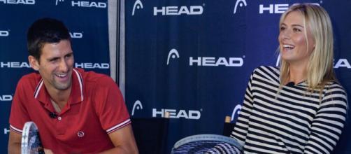 Novak Djokovic y María Sharapova se conocieron en un evento benéfico - tenniscircus.com