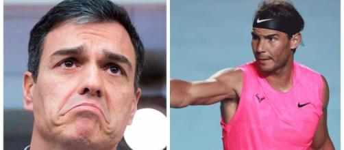Pedro Sánchez y Rafa Nadal en imagen