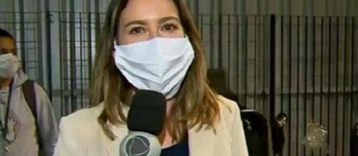 Record determina que repórteres passem a usar máscaras. (Reprodução/Record TV)