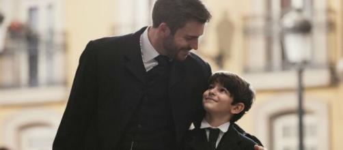 Una Vita: Telmo pensa che Mateo possa essere suo figlio.