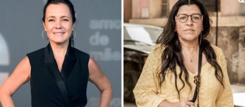 Adriana Esteves, que dá vida à personagem Thelma na novela, é regida por Sagitário. (Fotomontagem)
