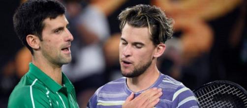 Dominic Thiem e Novak Djokovic nell'ultima finale degli Australian Open.