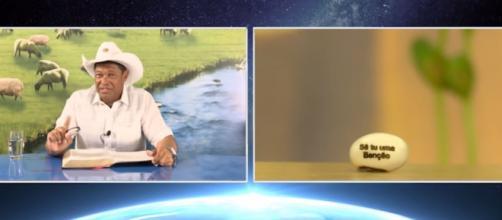 Em vídeo, pastor Valdemiro Santiago anuncia semente que curaria COVID-19. (Reprodução/TV Mundial)