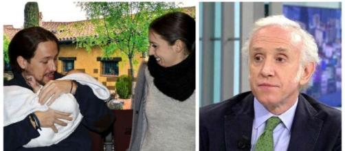 Pablo Iglesias, Irene Montero y Eduardo Inda