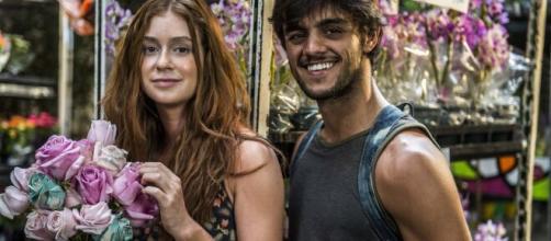 Bafão de Eliza e Jonatas dá lucro para Germano. (Reprodução/TV Globo)