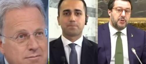 Marcello Sorgi, Luigi Di Maio e Matteo Salvini.