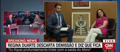 Regina Duarte abandona entrevista após chilique ao vivo. (Arquivo Blasting news)