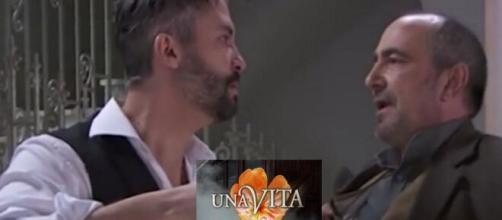 Una Vita, trame al 24 maggio: Ramon si reca da Felipe, lui lo accoglie con delle forbici.