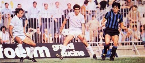 Carlo Muraro con la maglia dell'Inter nella stagione 1979/80.