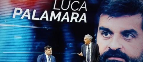 Luca Palamara ospite di Massimo Giletti a Non è l'Arena.