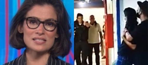 Renata Vasconcellos fica aos prantos após ser ameaçada na Globo. (Arquivo Blasting News)