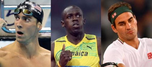 Michael Phelps, Usain Bolt e Roger Federer.