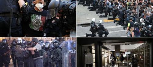 Les Etats-Unis, divisés entre émeutes et rassemblements pacifiques - parismatch.com