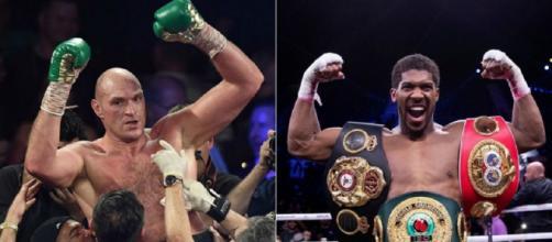 I due campioni del mondo dei pesi massimi, Tyson Fury e Anthony Joshua.