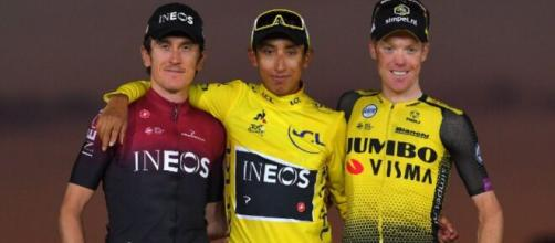 Il podio dell'ultimo Tour de France.