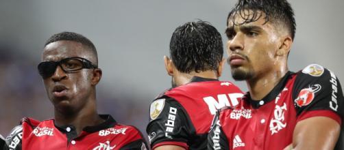 Vinícios Jr. e Lucas Paquetá atualmente defendem Real Madrid e Milan, respectivamente. (Arquivo Blasting News)