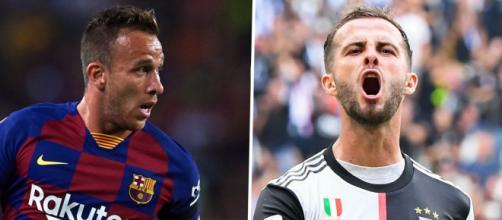 Arthur e Pjanic, protagonisti dell'eventuale scambio tra Juventus e Barcellona