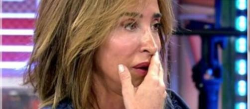 María Patiño pierde un diente en pleno directo en Sálvame Deluxe