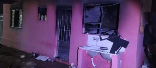 Casa ficou parcialmente destruída. (Arquivo Pessoal)