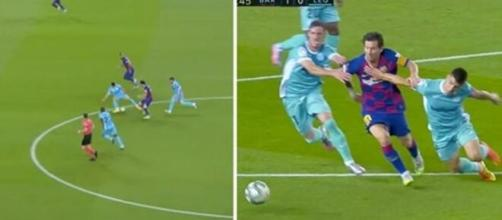 Lionel Messi était en feu contre Leganés - capture d'ecran vidéo Twitter