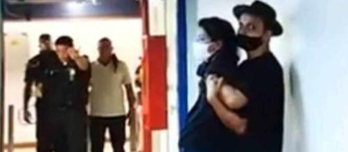 Momento em que Mariana Araújo foi sequestrada. (Arquivo Blasting News)