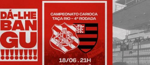 Bangu x Flamengo. (Reprodução/Facebook Oficial Bangu)