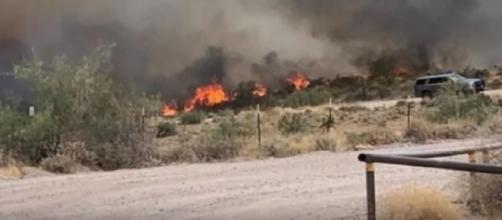 Crews battling multiple wildfire in Arizona. [Image source/12 News YouTube video]