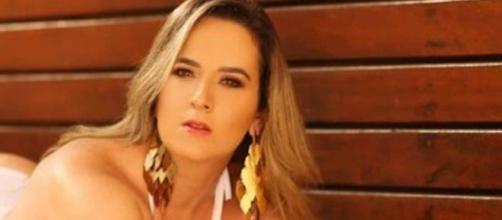 Ex-candidata do 'Miss Bumbum 2018' tem braço amputado após acidente de moto. (Arquivo pessoal)