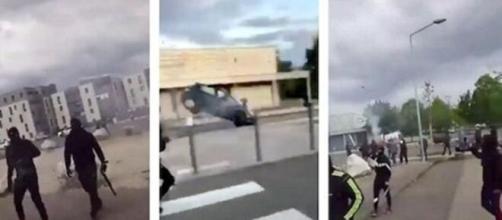 Les scènes de violence à Dijon sont de plus en plus nombreuses - Photo montage depuis vidéo Twitter