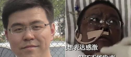 El médico urólogo Hu Weifeng, de Wuhan, cuya piel se oscureció durante el tratamiento por coronavirus.