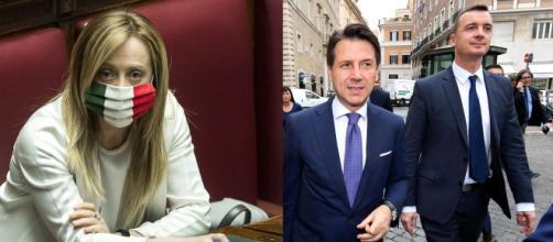 Giorgia Meloni critica la comunicazione di Giuseppe Conte e Rocco Casalino